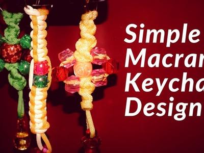 DIY Best Macrame Keychain Design | Macrame Tutorial for Beginners | Macrame Keychain Tutorial
