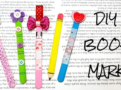 DIY Book Mark Tutorial.Book Mark with Popsicles Stick.DIY Back To School.Separadores de libros