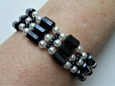 DIY bracelet in less than 30 minutes. Easy pattern for beginners