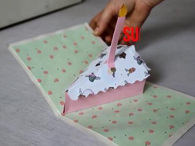 DIY:  CAKE POP UP CARD TUTORIAL | HOW TO MAKE CARD