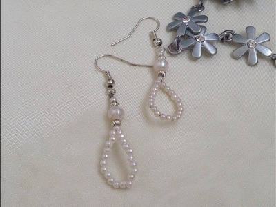 DIY Easy  PEARL BEADED EARRINGS |how to make pearl earrings | Beading