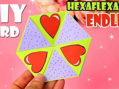 DIY ENDLESS CARD TUTORIAL HEXAFLEXAGON CARD FAST WAY
