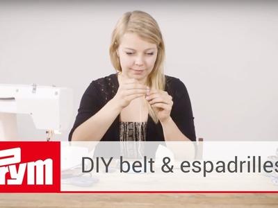 DIY espadrilles and belt tutorial with DaWanda | Prym espadrilles