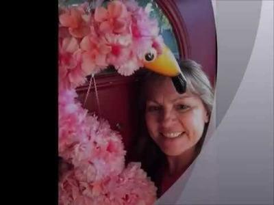 DIY Flamingo Wreath Tutorial