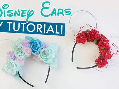 DIY Floral Disney Ears Tutorial | BalsaCircle.com