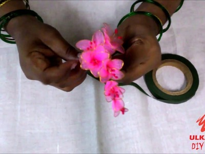 DIY FLOWER HAIR BROOCH || ULKA PATIL DIY CRAFT