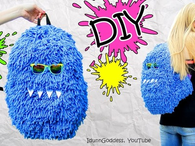 DIY Fluffy Monster Backpack – How To Make A Funny Hairy Backpack