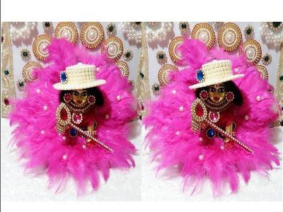 DIY - Fur Dress (Poshak) for Bal Gopal. Ladoo Gopal - Easy Step by Step Tutorial | Shyam Diwani