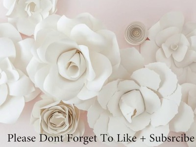 DIY Giant Paper Rose How To Tutorial | Paper Flower Backdrop for Wedding.Events