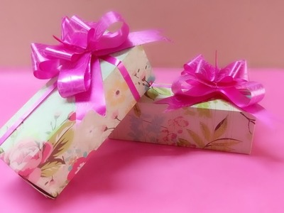 DIY gift box || Origami || paper craft
