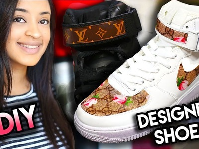 DIY: GUCCI, LOUIS VUITTON, BAPE YOUR SHOES USING A SNEAKAL! NO FABRIC, SEWING, PAINTING REQUIRED