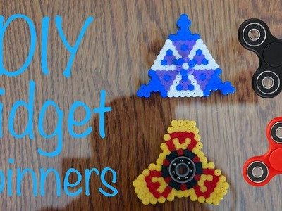 DIY Hama. Perler Bead Fidget Spinners (Triangle and No Bearing) Tutorial #29