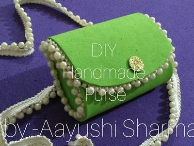 DIY Handmade foam sheet purse.tutorial