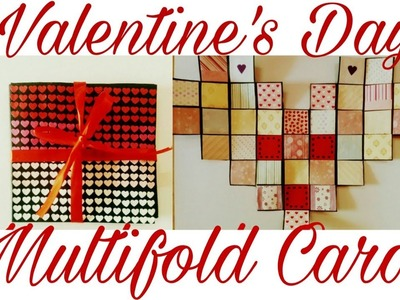 DIY - Heart Shaped Multifold Card Tutorial | Valentine's Day Card