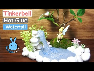 DIY Hot Glue Waterfall Tutorial easy How to Make DIY Tinkerbell Angel ponds Disney Princess Crafts