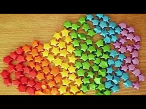 Diy-how to make 3D origami stars at home tutorial in hindi
