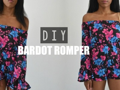DIY | How To Make A Bell Sleeve Off The Shoulder Playsuit.Romper (pattern available)