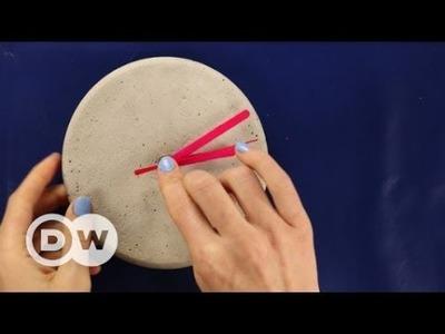 DIY - How to make a concrete clock