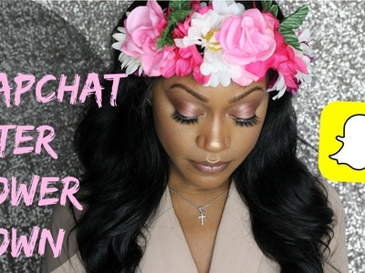 DIY HOW TO MAKE A FLOWER CROWN | SNAPCHAT FILTER INSPIRED