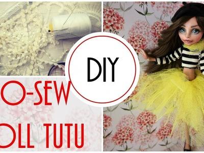 DIY. How to Make a No Sew Doll Tutu Skirt Easy Handmade Craft Tutorial Monster High, Barbie, Bratz