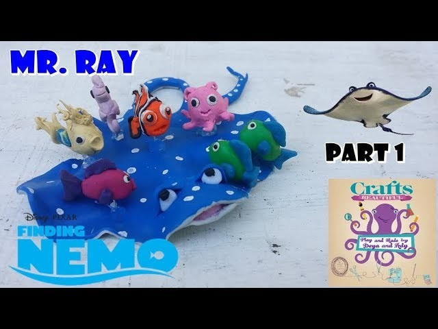 DIY: How to make polymer clay  MR .RAY from Finding Nemo TUTORIAL Part 1