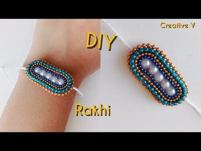 DIY. How to Make Rakhi at home. Raksha Bandhan. Tutorial 6. Creative V