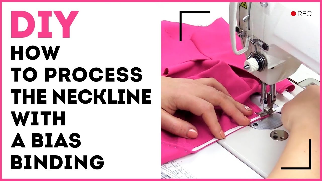 DIY: How to process the neckline with a bias binding. Sewing tutorial for everyone.
