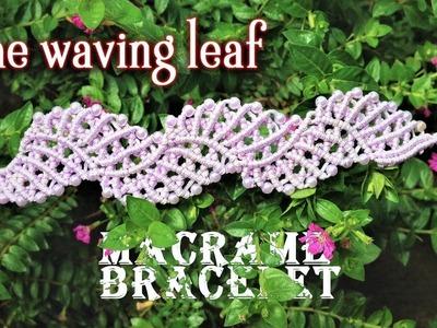 DIY macrame bracelet - The waving leaf pattern - tutorial by Tita