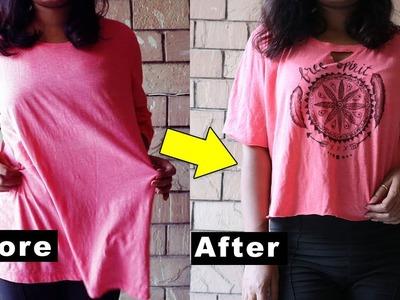 DIY MANDALA T-shirt | DIY Clothing Life Hacks Tutorial | Boho Crop Top | revamp an old t-shirt