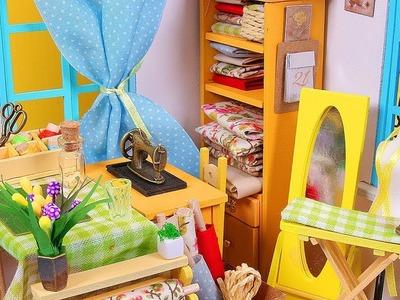 DIY Miniature Dollhouse Room for a Tailor
