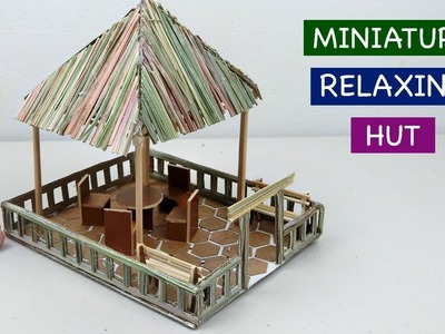DIY Miniature Hut Seating| Easy & Quick Craft ideas for Kids