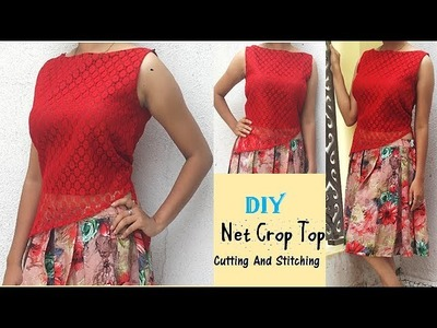 DIY Net Crop Top Cutting And Stitching Full Tutorial By Pn'z World