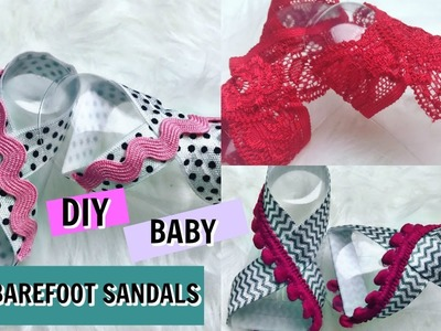 DIY NO SEW BABY BAREFOOT SANDALS TUTORIAL