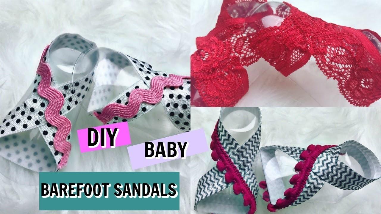 DIY NO SEW BABY BAREFOOT SANDALS TUTORIAL
