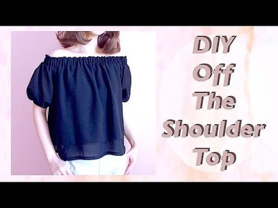 DIY Off the Shoulder Top. オフショルダーブラウスの作り方ㅣmadebyaya
