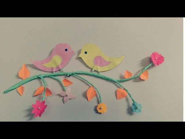 DIY- paper Birds_home made wall hanging????
