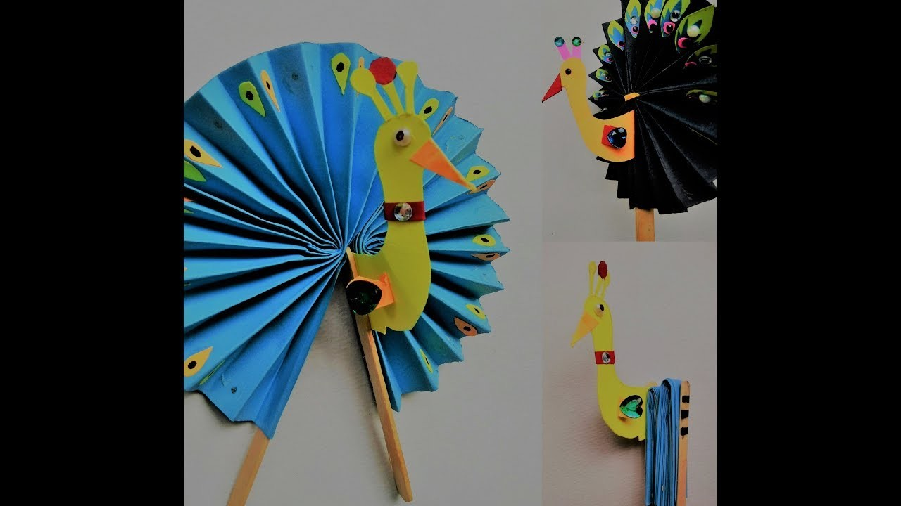 Diy How To Make Origami Peacock Art Craft Ideas - Imagez co
