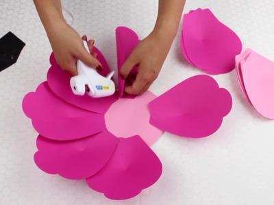DIY Paper Flower Tutorial using Template #9