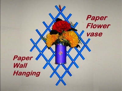 DIY: Paper Wall Hanging | Paper Flower Vase | Wall Decor