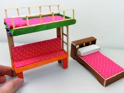 DIY Popsicle Stick Bunk Bed #4 | Easy DIY & Craft Project