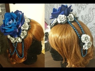 DIY: Rose and beads hair accessory (tutorial)