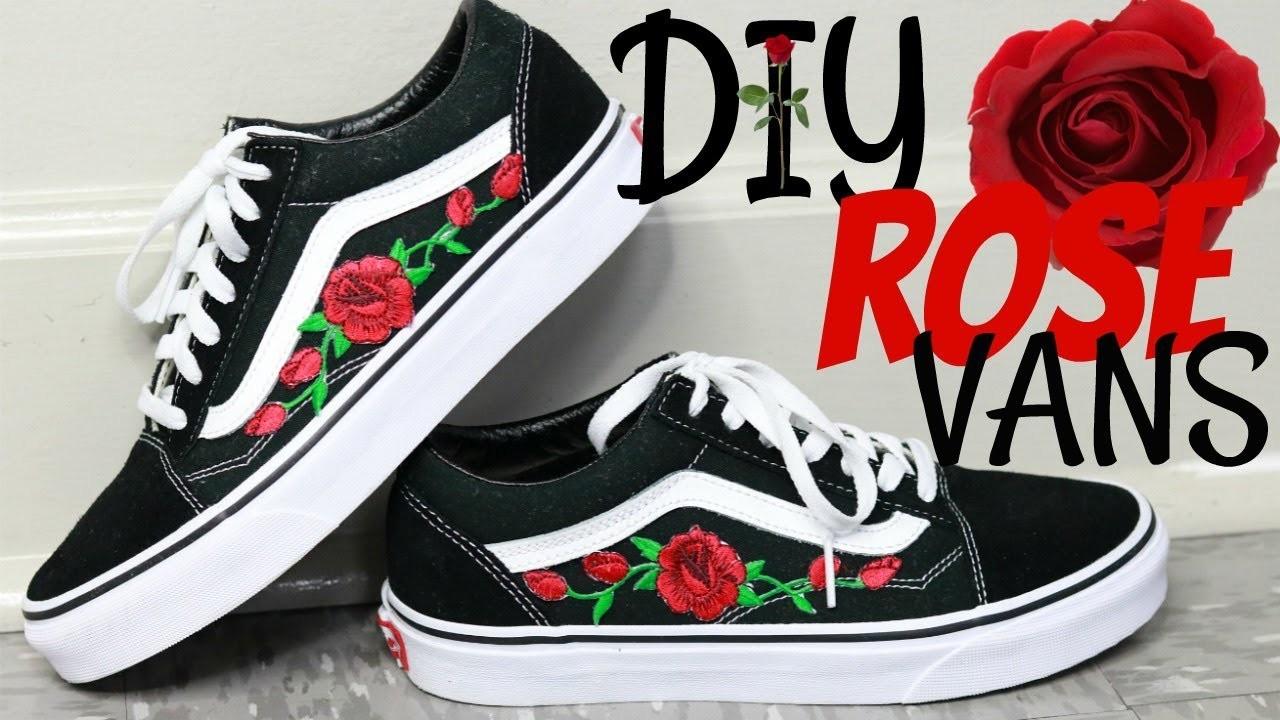 rose patch vans