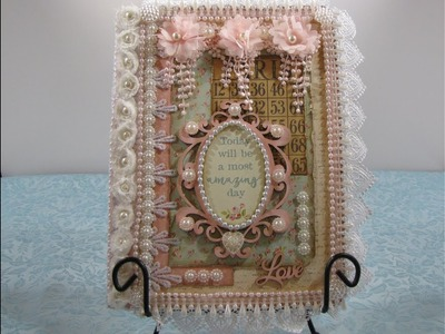 DIY Shabby Chic Altered Composition Notebook Process Tutorial