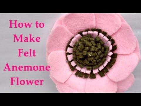 DIY to Make Felt Anemone Flower Tutorial Easy & Simple - Cara Membuat Bunga Flanel