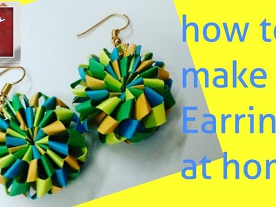 DIY- Tutorial-9   How to make Quilling Paper Earrings at home   Handmade Jewellery   Useful For U
