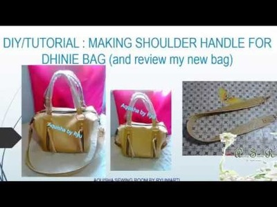 DIY. TUTORIAL MAKING shoulder handle for dhinie bag ( Cara membuat tali tas )