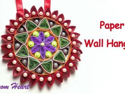 DIY - Wall Hanging from Paper.quilling craft.paper craft. Home decoration idea