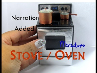 DIY Wood Smooth Surface Stove Oven Dollhouse Miniature with Narration Whirlpool Inspired