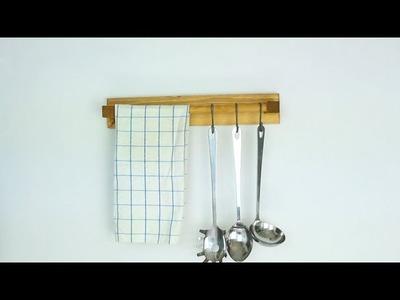 DIY Wooden Kitchen Utensil Holder