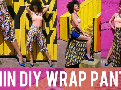 ???????? DIY WRAP PANTS IN 7MIN?! ???????? COSTA RICA & PINTEREST INSPIRED ???????? DIY CLOTHES